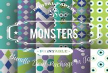 MONSTER PAPERS / DIGITAL PAPERS - MONSTER PAPERS BY DIGITAL PAPER SHOP