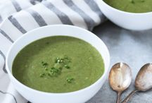 Spinach potato leek soup