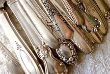 Vintage Flatware / Adorned with roses, fleur de lis, stars, scalloped edging and art deco designs, Southern Vintage Table has vintage stainless steel and timeless, beautiful silver-plated flatware for your vintage table..  - Southern Vintage Table