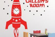 sticker clock, room decor