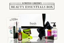 Limited Edition Beauty Essentials Box By Fresh Fragrances and Cosmetics / Exclusive to Fresh™ Fragrances & Cosmetics the Beauty Essentials Box is a selection of our beauty favourite products.