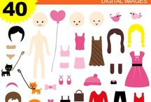 Clipart 10 by Revidevi / Digital clipart for commercial use and personal use. Graphic design by Revidevi.