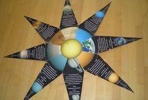 Weltall und Erde