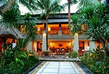 The Restaurant / Overlooking the gardens and swimming pool area, The Restaurant serves a selection of Indonesian and Mediterranean cuisine.