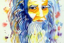 Watercolor portraits / Portraits réalisés à l'aquarelle
