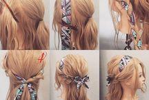 hair styles with scarfs