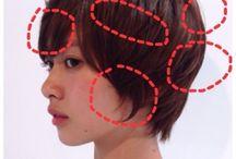 hair style❤pixie cut コテ巻き方