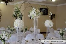 Round / Square Table Settings - White Flowers