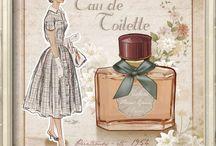 Imágenes decoupage:  Perfume,colonias