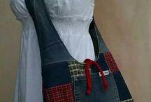 Con tela de jeans