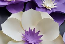 Flores de papel grande
