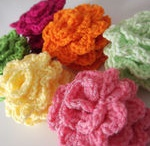 Crocheted Flowers and motifs