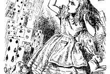 """Ilustraciones de """"Alicia en el país de las maravillas"""", de John Tenniel y otros"""