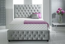 Upholstered Floor Standing Headboards / Custom made in Britain, update your bedroom with our Floor Standing Headboards.  Available in a variety of High Quality Fabrics (Damask, Weaves, Chenilles, Faux Suede, Leather, Velour) and Colours!
