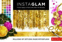 Gold Textures Resources {Foil, Glitters, Patterns} / Gold Foil Textures / Backgrounds / Glitters