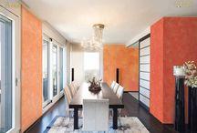 Jedáleň / Inšpirácia dekoratívnych náterov pre vašu jedáleň.
