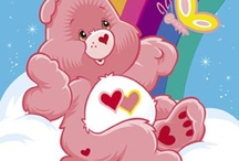I ♥ Care Bears (80's) / The Care Bears are soft, cute, cuddly, and bursting with care! Born in 1983, these lovable friends exploded onto greeting cards, plush toys, cartoons, and everything else. Each Care Bear has a belly badge or tummy symbol that represents his or her personality. The Care Bears are collectible, available in every color of the rainbow, and have been going strong for almost 30 years!