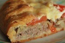 Пирог с мясом (картофельное тесто)