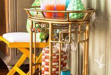 Bar Cart / Beautiful bar carts and ideas for its decoration.