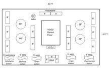party floor plan