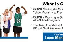 CATCH®  / CATCH stands for a Coordinated Approach To Child Health and is an evidence-based, coordinated school health program designed to promote physical activity, healthy food choices and the prevention of tobacco use in children. The CATCH Programs cover kids from preschool through 8th grade and has been implemented in thousands of schools and after-school organizations across America and Canada.
