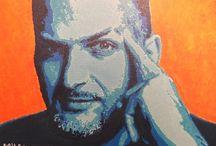Portrait street art sur toile / Vous souhaitez un portrait personnalisé façon street art ?  Rendez-vous sur : www.slave2point0.com  Voici mes différentes réalisations de tableaux dans des formats variés avec des techniques multiples.