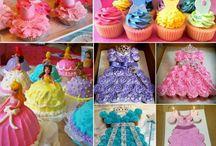 Princess cakes and cupcakes