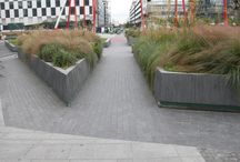 Landscape Planters / A collection of raised planters within the landscape.