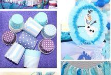 Frozen party / Frozen party ideas, cake, party decor, party favours