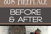 updated brick fireplace