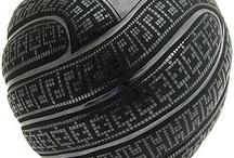 black geo metric pattern