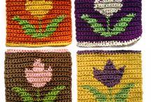 tapestry crochet flowers