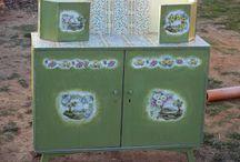 Olive buffet / Restoration of furniture