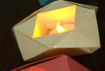 origami bowls..candles