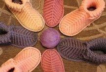 вязание тапочек