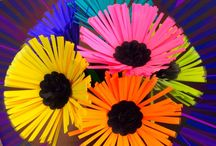 Bright Colorful Flowers made from Paper - Bursting Beauty / Find out all you need to do to make your own Bursting with color Flower made with bright colored papers. Brighten up your day or share it with someone else - Great do-it-yourself idea. / by Paper-Papers