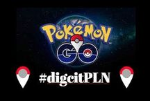 DigCit PLN: Pokemon Go on SM / This is a board with images that educators are sharing on social media about Pokemon Go and is part of the ISTE DigCitPLN's work in this area