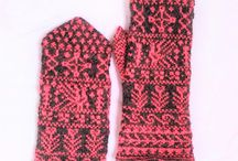 Finnish mittens / Inspired by Finnish folk textile ornaments