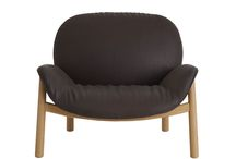 """M Lounge chair - Arflex Japan - 2015 / The """"M"""" lounge chair has a calm and yet soft expression. The wrinkles on the seating part create a contrast against the more stringent backside.  The chair has legs in solid wood, oak or wallnut. The seating is composed of a shell in moulded plywood that is than upholstered. The top-part has a cover that is removable by a hidden zipper for an easy care of your chair. The upholstery is finished with down-filling for a restful seating experience."""