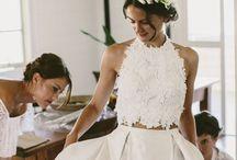 two piece wedding dress.