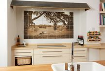 The Old Vicarage / The 1650mm x 900mm mural panel was produced using the digital transfer process onto 150 x 150mm white glazed wall tiles. This project won Best Use of Tile in a Domestic Environment at The Tile Association Awards 2015.