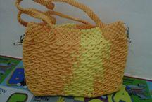 Alfian accesories / macrame bag, felt