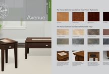 AVENUE / Tile inlays combine with solid maple legs, drawers and top edging to bring a welcome blend of distinction and durability to Avenue