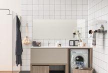 lavandino e lavatrice