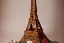 Eiffel tower fondant cakes