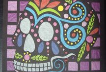 ART: Skull-A-Day.com - Dia de la Abby / These are the many pieces of skull artwork that I've created for www.skulladay.com's Dia de la Abby. Related tutorials are found on my blog, http://craftyladyabby.blogspot.com/p/skull-day-40-dia-de-la-abby-post.html