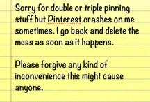 Public Message for my Pinterest friends