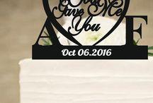 custom wedding cake topper / kişiye özel pasta kaban