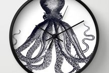 Wall Clocks - Eclectic at HeART / Eclectic at HeART designs are available on wall clocks from https://society6.com/eclecticatheart/wall-clocks