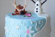 gâteau reine des neiges louloutte 4 ans
